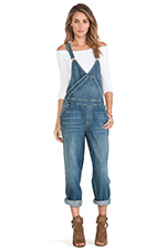 Blue Farm Denim Surplice Overall in Spring Wash