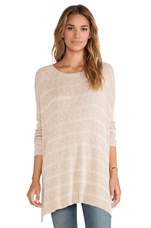 Shipping News Tunic Sweater in Ballet Combo