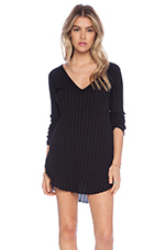 Beach Babe Hacci Sweater in Black