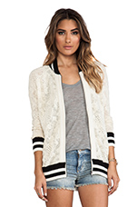 Track Jacket in Ivory Combo