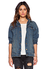 Long Denim Jacket in Alabama Wash