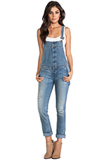 Button Front Overall in True Wash