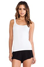 Seamless Scoop Tank in White