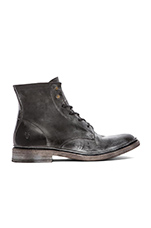 James Lace Up Boot in Black