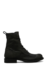 Rogan Tall Lace Up Boot in Black