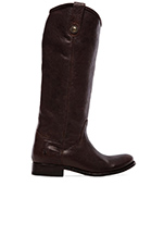 Melissa Button Boot in Dark Brown