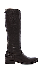 Melissa Button Back Zip Boot in Black