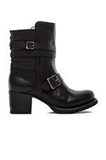 Vera Strappy Boot in Black