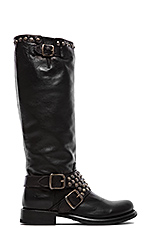Jenna Studded Tall Boot in Black