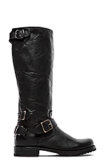 Veronica Moto Back Zip Boot in Black