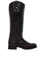 Melissa Button Boot with Sheep Shearling in Black