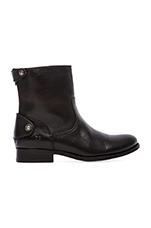 Melissa Button Zip Short Boot in Black