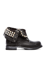 Rogan Studded Lace Boot in Black