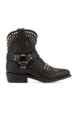 Billy Biker Short Boot in Black