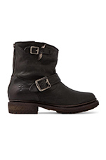 Valerie 6 Motorcycle Lamb Shearling Lined Boot in Black