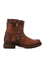 Valerie 6 Motorcycle Lamb Shearling Lined Boot in Cognac