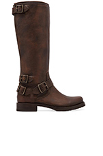 Veronica Moto Back Zip Boot in Maple