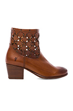 Courtney Stud Overlay Bootie in Whiskey