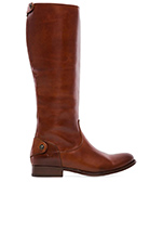 Melissa Button Back Zip Boot in Cognac