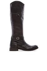 Shirley Rivet Tall Boot in Black