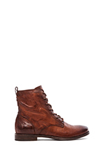 Anna Lace Up Boot in Cognac