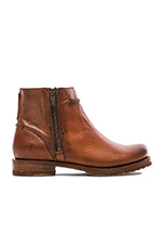 Veronica Seam Short Boot in Cognac