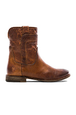 Paige Short Boot in Cognac