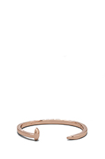 Skinny Railroad Spike Cuff in Rose Gold Finish