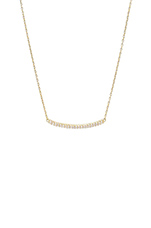 Taner Pave Bar Necklace in Gold