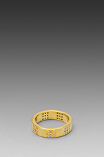 Delaney Square Ring in Gold
