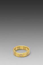 Delaney Square Ring in Gold