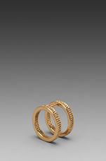 Lena Shimmer Double Bar Ring in Gold