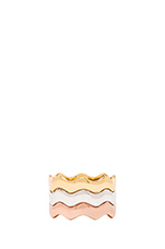 Zig Zag Ring Set in Mixed