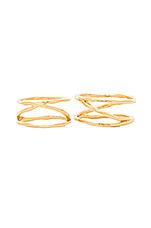 Isla Ring & Midi Set in Gold