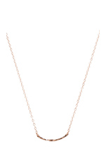 Taner Bar Mini Necklace in Rose Gold