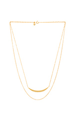 Crescent Layered Necklace in Gold Matte