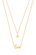 #Love Necklace Set in Gold