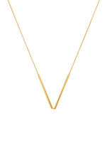 Bali Tube Small V Necklace in Gold