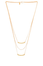 Taner Bar Mini Triple Layer Necklace in Gold