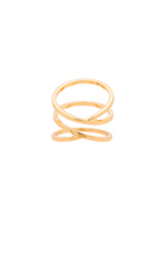 Zoe Crossover Ring in Gold