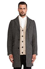 The Herringbone Overcoat in Grey