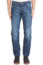 3301 Low Tapered Lexicon Denim in Medium Aged