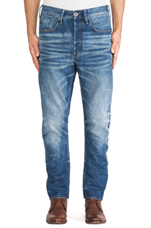 Type C 3D Loose Tapered Sheldy Denim in Medium Aged