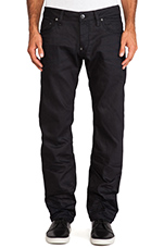 Attacc Low Straight Black Format Denim in 3D Aged