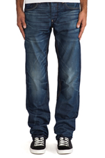 Attacc Low Straight Taland Denim in Vintage Medium Aged