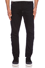 Type C 3D Loose Tapered Black Trig Denim in 3D Raw