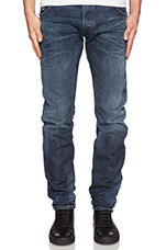 Arc Zip 3D Slim Swash Denim in Dark Aged
