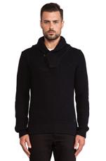 Gralvent Shawl Collar Sweater in Mazarine Blue