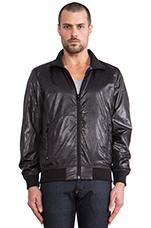 Hopkins Zip Jacket in Black
