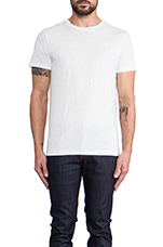 2 Pack Crew Neck Tees in Heathered White